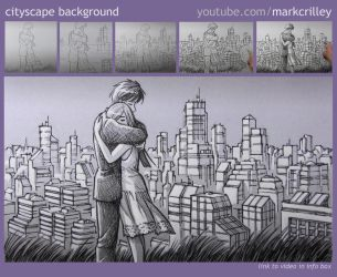 Cityscape Background by markcrilley