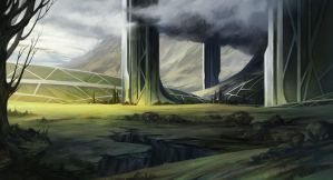 alien cathedral by SebastianWagner