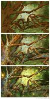 Enchanted Tree - Painting Process by NoirArt