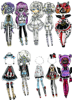 CLOSED- Alice outfits 3 by Guppie-Vibes