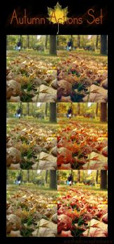 Autumn Colors Actions Set by shadowXphobia-stock
