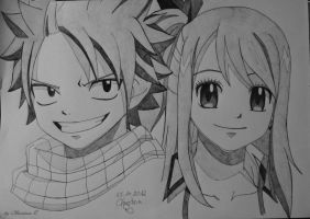 Natsu and Lucy by M0nstac00kie