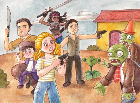 The Walking Dead by Gigei