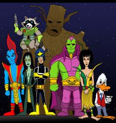 Guardians of the Galaxy by Lordwormm