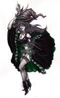 Slytherin House Pinup by Matriarch667