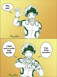 Deku Encouragement by MangaKeri