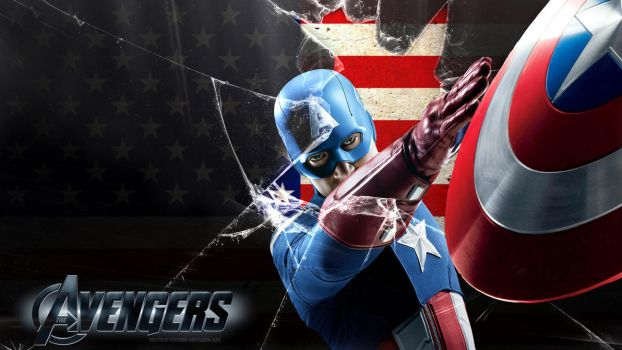 Avengers Captain America Wallpaper 1080p by SKstalker