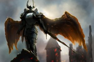 Sky Demon / Shadow Knight (light edition!) by conorburkeart