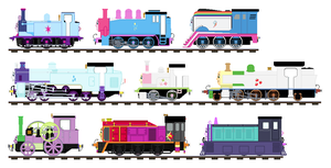 Equestria Girls as Thomas characters sprites by Curtis-Parish
