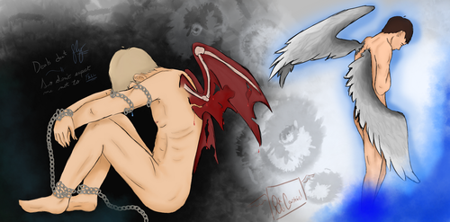 I've Got Chains, And You've Got Wings by oh-no-Castiel
