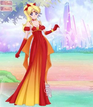 Sailor Phoenix Princess Dress by Guendolen-Sama