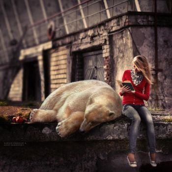 She Reads Books To The Bear by soulofautumn87