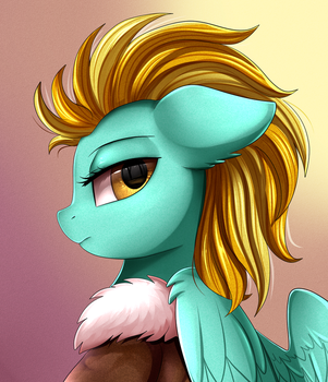 Portrait Comm:  Lightning Dust by pridark