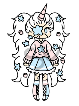 {CLOSED!/CHEAP AUCTION} - Star Unicorn Girl by CheapClothesAdopts