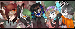 The Whole Gangs Here // smile~! by Creepsalote78