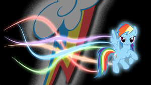 RainbowDash Glow wallpaper by GuruGrendo