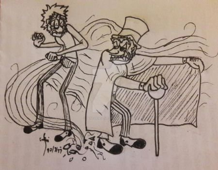 Inktober day 7 : Dr Jekyll and Mr Hyde by Benthehyena
