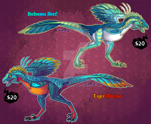 Fantasy Raptor Adopts 2 (ONE LEFT) by Lucieniibi