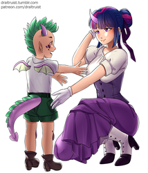 Twilight Sparkle and Spike, P1 by DrAltruist