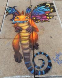 Chalk Walk 2017 - Brightwing by StaticKling31