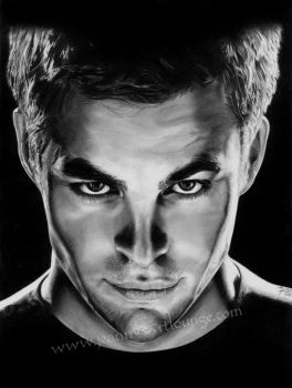 Captain Kirk - Chris Pine by Jeanne-Lui