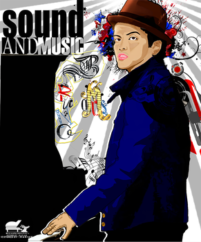 bruno mars vector V2 by Laviolenta