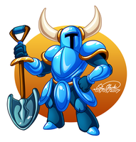 Shovel Knight by Sawuinhaff