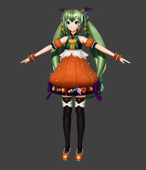Project Diva X HD: Pumpkin Miku [Download] by FlyingSpirits-P
