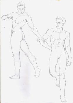 Men sketches by Lovely-Bacar