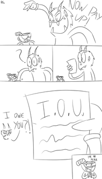 Cuphead Comic - Now pay up! by DrawnGuy by DrawnGuy