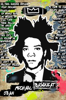 Basquiat Stencil by nov1design