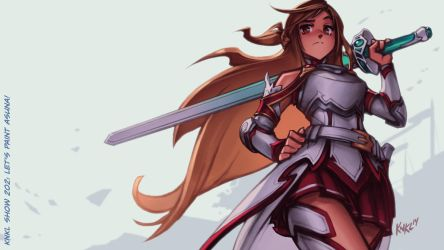 VIDEO TUTORIAL: Let's Paint ASUNA! by KNKL