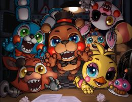 Five Nights with Chibis by Blushy-Pixy