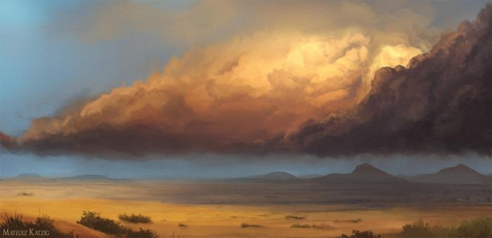 Colorado plains with a storm brewing by Narholt