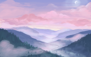 Misty Mountains by BellaCielo