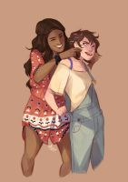 blue and orla by Azeher