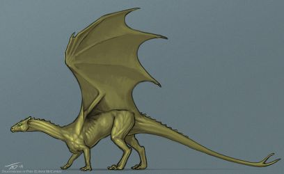 Bronze Pernese Dragon by KaiserFlames