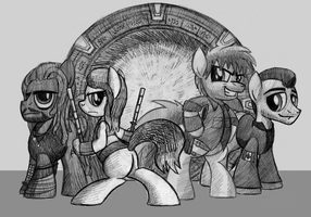 Commission: Stargate Atlantis Ponified! by artwork-tee