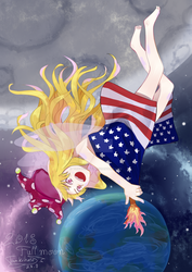 Moon and Earth ~ Lunatic Fairy by tinkatiranor