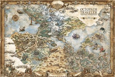 Octopath Traveler Map by FrancescaBaerald