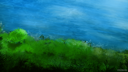 Scenery Practice - River Bank by 73H-FR33M4N