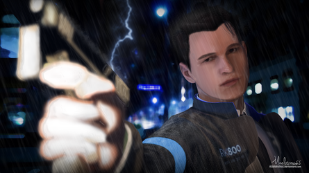 Connor in The Rain by Maelstromss