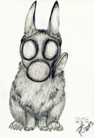 Gasmask rabbit by Liviatar