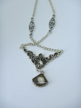 Necklace with a seashell in a seashell. by IngaleCreations