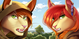 [ COMMISSION ] Lady and The Lion by Marchef-Iustinianie