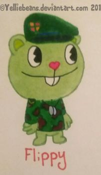 Flippy (Happy Tree Friends) by Yelliebeans