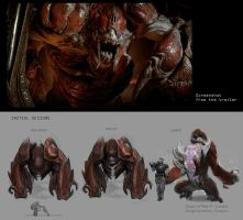 Gears of War 4 - Carrier Creature Concept by Ubermonster