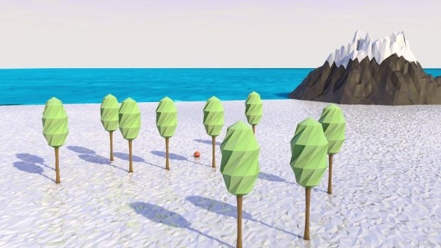 Low Poly Beach Scene Lighter by lolofson