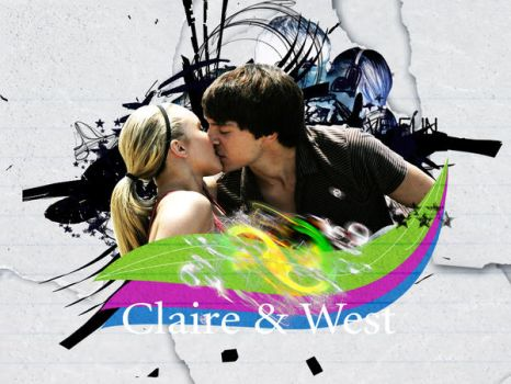 claire and west wallpaper by Julushko-navara