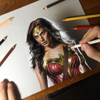 Gal Gadot as Wonder Woman Portrait by marcellobarenghi